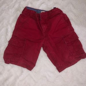 Levi's red shorts